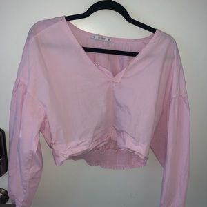 Pull and bear pink top